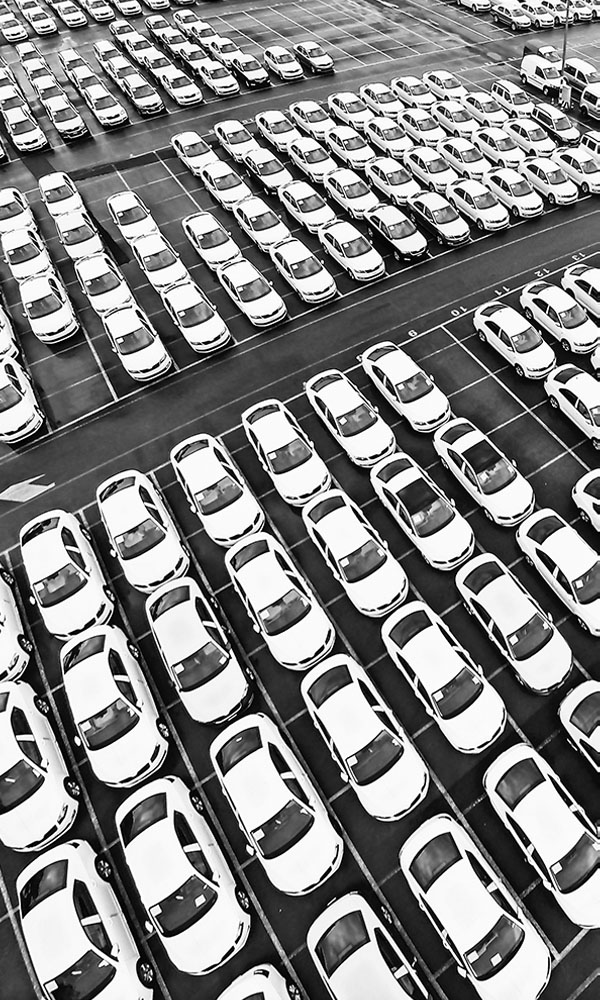 Car lot for Live Patrol's Video Monitoring